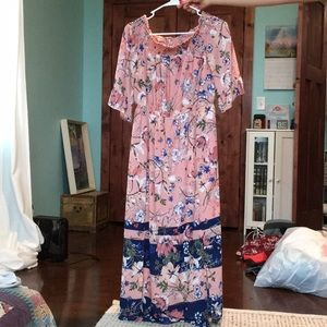 Pink and navy floral